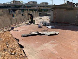 Rehabilitación de terrados en la calle Tamarit, Barcelona